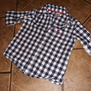 🎉4 for $15🎉Carter's gingham button up